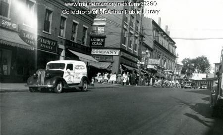 Butter line during WWII,  Biddeford, 1943