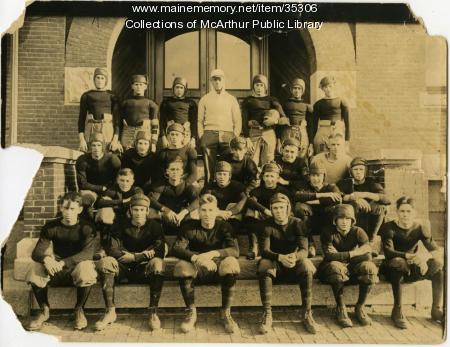 Item 35306 Biddeford High School Football Team 1921 Vintage Maine Images