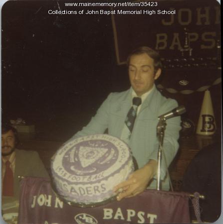 John Bapst High School Football Class C State Championship cake, Bangor, 1976