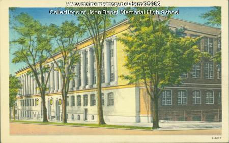 John Bapst High School Postcard, Bangor, ca. 1930
