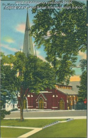 St. Mary's Catholic Church, Bangor, ca. 1930