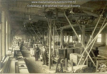 Woodworking shop, Biddeford, ca. 1900
