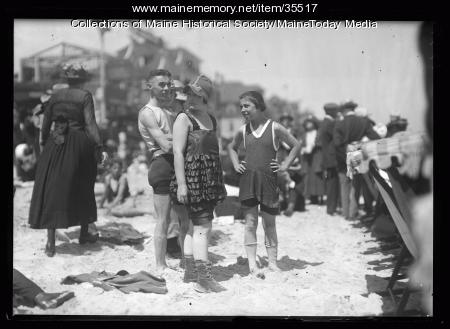 Beachgoers, Old Orchard Beach, 1920