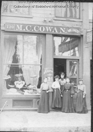 Mary C. Cowen Millinery, Biddeford, ca. 1900