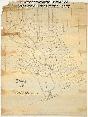 Plan of Lovell, 1871