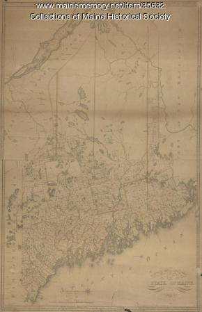 Map of the state of Maine, 1822