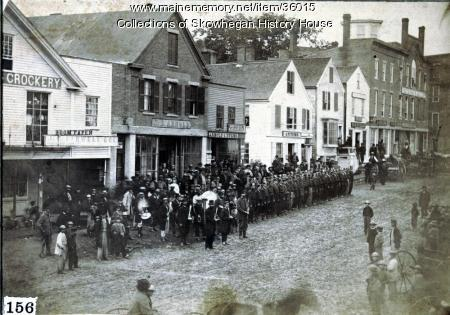 Westerly side of Madison Avenue, Skowhegan, ca. 1870