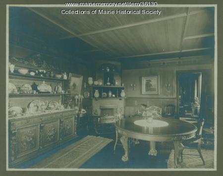 'Belfield' dining room, Cape Elizabeth, ca. 1890