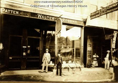 Southerly Side of Water Street, Skowhegan, ca. 1900