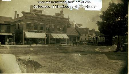 Southerly Side of Water Street, Skowhegan, ca. 1888