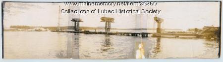 Roosevelt Bridge construction, Lubec, 1961