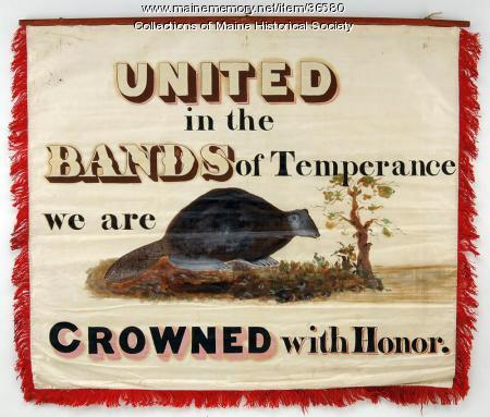 Hatters' banner, Portland, ca. 1841