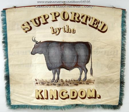 Butchers' banner, Portland, 1841