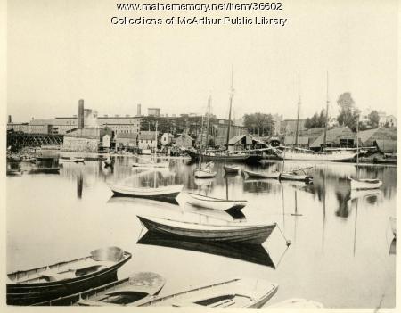 Saco River wharves, Biddeford-Saco, ca. 1894