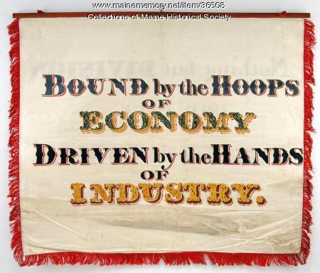 Coopers' trade banner, Portland, 1841