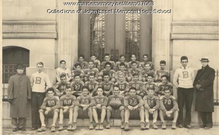 John Bapst Football Team, Bangor, ca. 1935