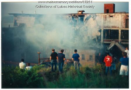 American Can plant, Lubec demolition, 1995