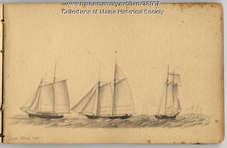 'Ships Seen from a Portland Window,' 1858