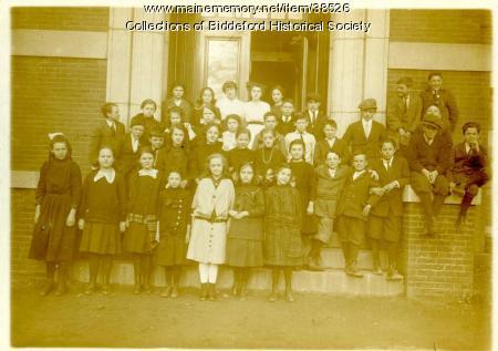 Emery School students, Biddeford, 1930