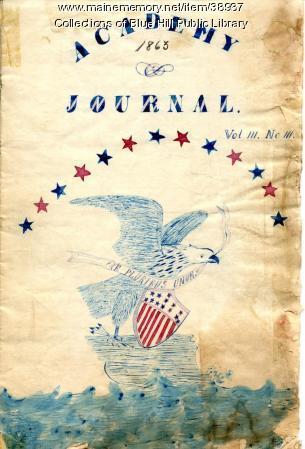 Bluehill Academy Journal, 1863