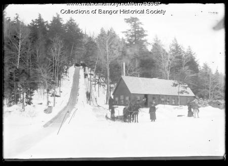 Tobogan Run in Winter, Bangor, ca. 1895