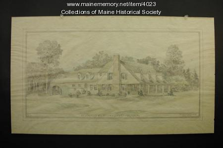 Drawing of Leavitt residence, Wilton, ca. 1925