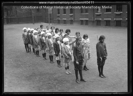 Jackson School children, Portland, 1924