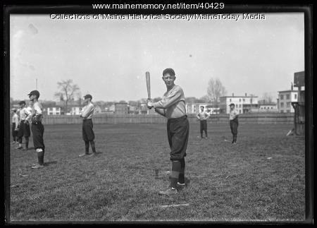 Baseball batter, Biddeford, 1924