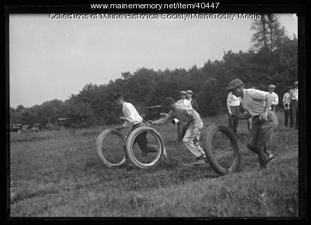 Tire racing, Scarborough, 1920