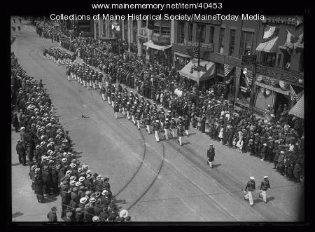 Portuguese sailors, Maine Centennial, 1920