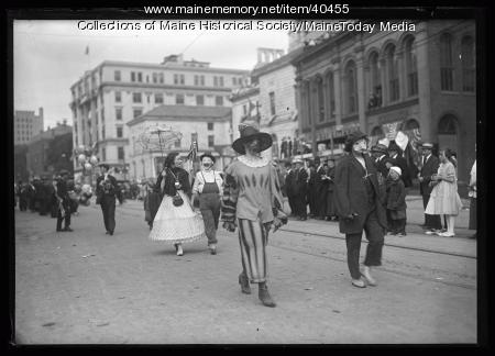 Maine Centennial parade, Parade of Horribles and Antiques, Portland, 1920