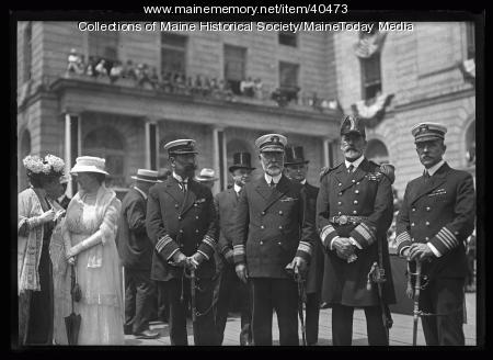 International naval officers, Portland, 1920