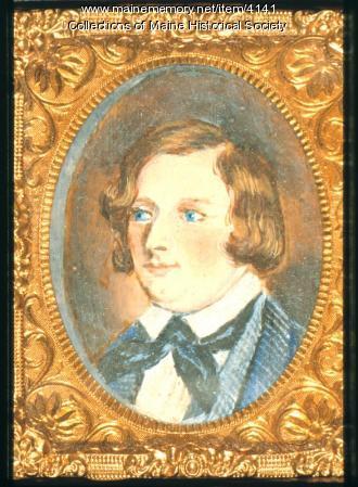 Henry Wadsworth Longfellow miniature, ca. 1840