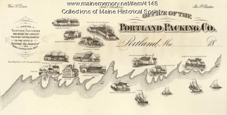 Advertising card, Portland Packing Co., ca. 1870