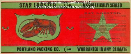 Star Lobster packing label