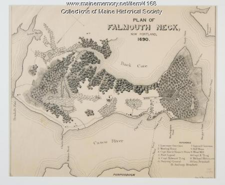 Plan of Falmouth Neck, 1690