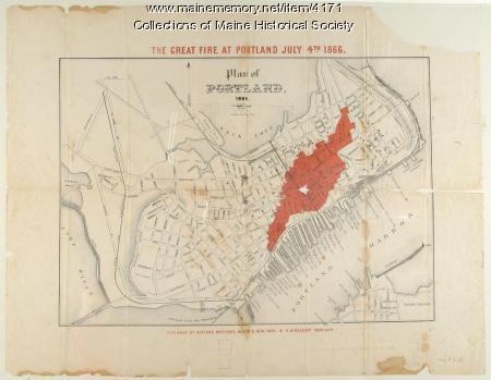 Great fire of Portland, 1866