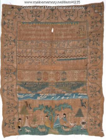 Nancy Mansfield sampler, 1801