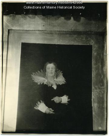 Kate A. Farnham as 'Portrait of Marie de' Medici,' Portland, 1923