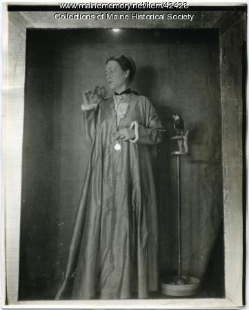 Janet W. Hobbs as 'Young Lady in 1866,' Portland, 1923