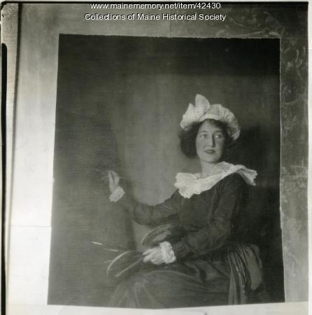 Carolyn James as 'Portrait of the Artist by Herself,' 1923