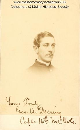 George A. Deering, 16th Maine Infantry, ca. 1863