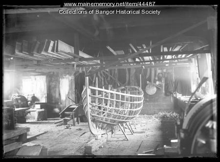 Boat under construction, Bangor, ca. 1895