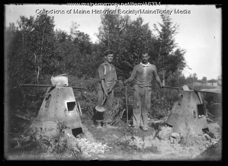 Water Department conduit, Sebago Lake, 1924