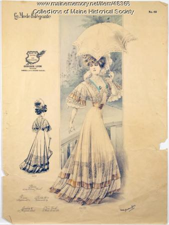 Paris fashion illustration, ca. 1900