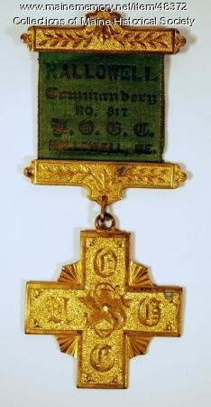 UOCG pin, Hallowell, ca. 1900