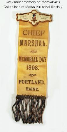 GAR parade badge, Portland, 1898
