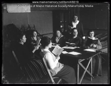 Adult Americanization class, Portland, 1924