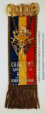Knights of Pythias ribbon, ca. 1900