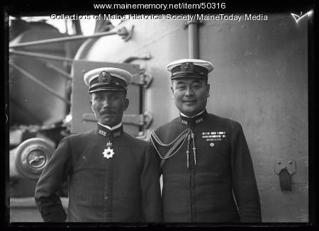 Capt. Uyeda and Capt.Teraoka, Portland, 1920
